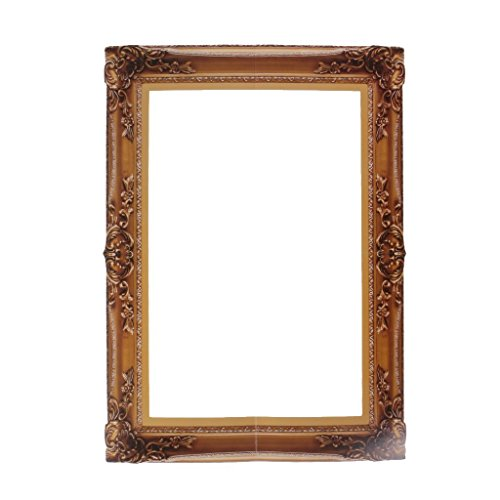 Liying 1 Pcs Retro-Nostalgic Style Photo Frame Cutouts Picture Selfie Frame Photo Booth Props for Party ()