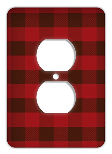 Rustic Plaid Trendy Printed Outlet Cover, - Northwood Outlet