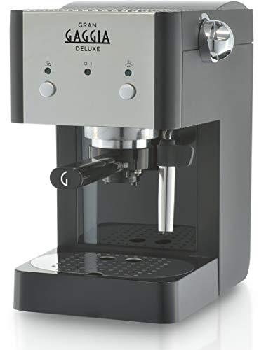 Gaggia GranGaggia Deluxe Black Macchina Manuale per il Caffè Espresso, per Macinato e Cialde, 15 bar, Colore Nero… 2