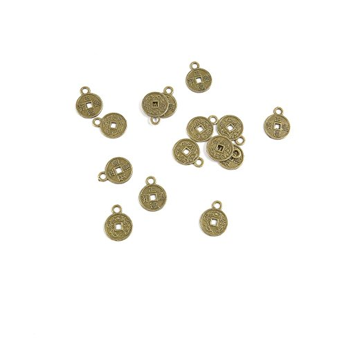 20 PCS Ancient Antique Bronze Fashion Jewelry Making Crafting Charms Findings Bulk for Bracelet Necklace Pendant Retro Accessoires Lots Vintage X6OP6B Chinese Cash Coins (Lot Chinese Coin)
