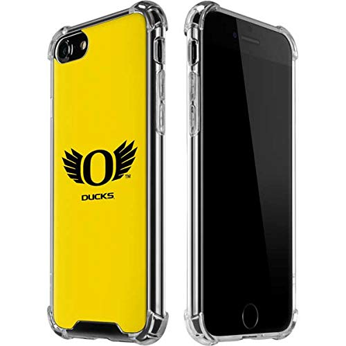 Skinit Oregon Ducks Yellow iPhone 7 Clear Case - Officially Licensed University of Oregon Phone Case - Slim, Lightweight, Transparent iPhone 7 - Case Team Iphone Logo