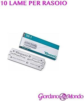 Tondeo - TSS3 - 10 cuchillas largas de recambio para afeitadora profesional de barbero: Amazon.es: Salud y cuidado personal