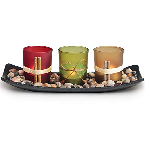 Letine Home Decor Clearance Candle Holders Set for Living Room & Bathroom Decor, Decorative Candle Holder Centerpieces for Dining Room Table & Coffee Table Decor from Letine