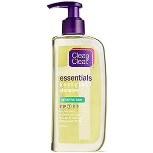 Clean & Clear Foaming Facial Cleanser, Sensitive Skin, 8 Ounces