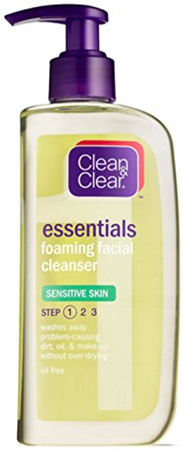 CLEAN & CLEAR Foaming Facial Cleanser Sensitive Skin 8 oz