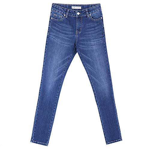 Intera Size Primavera Skinny L Plus A Sbiancato Figura Media M Donna Casual Arrivo Jeans Denim Rlwfjxh Vita Donn Baffo Nuovo qAYwcvI