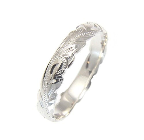 Arthur's Jewelry Sterling Silver 925 4mm Cut Out Edge Hawaiian Scroll Hand Engraved Ring Band Size 3.5