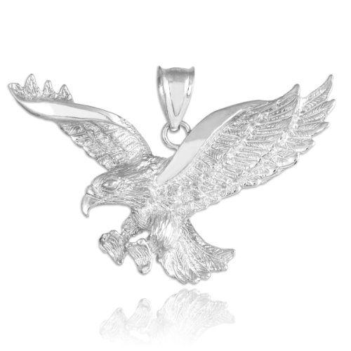 Eagle Jewelry - 925 Sterling Silver Flying Eagle Pendant