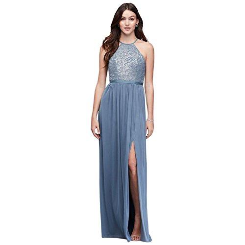 metallic blue bridesmaid dresses - 6