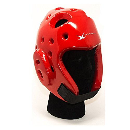 whistlekick Martial Arts Sparring Helmet (Heat Red, Large) with Free Backpack and Warranty-Taekwondo Martial Arts Sparring Equipment Gear Set