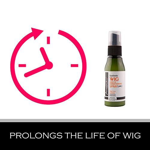 Synthetic wig detangler spray