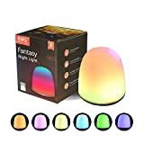 BMQ Night Light for Kids, LED Baby Nursery Sleep Relaxing Tap Light, Children Toy Nightlight, Decorative Desk Light for Bedroom, Nursery Lamp with Warm White and 7-Color for Baby, Children, Adults