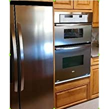 """""""Like"""" Contact Paper Refrigerator Cover SATIN FINISH Stainless Steel Peel and Stick Cover Panel for Appliances 36"""" W x 144"""" L Roll"""