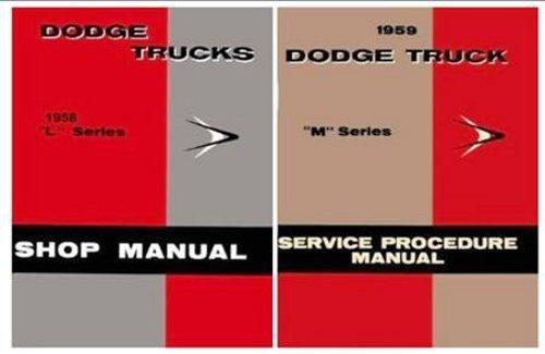 Dodge Truck Manual - 1958 Dodge Truck Repair Shop Manual Reprint