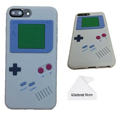 the latest 0dceb 6e98e iPhone 8 Plus Case,Retro 3D Game Boy Gameboy Design Style Soft Silicone  Cover Case For Apple iPhone 8 Plus 5.5 inch+ Free Cleaning Cloth As a Gift  ...