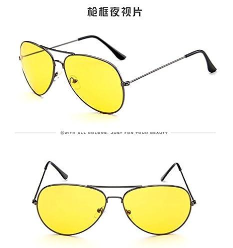 Nikgic gafas de sol polarizadas UV400 Moda Retro gran Oval gafas de conducción para mujer, amarillo, talla única