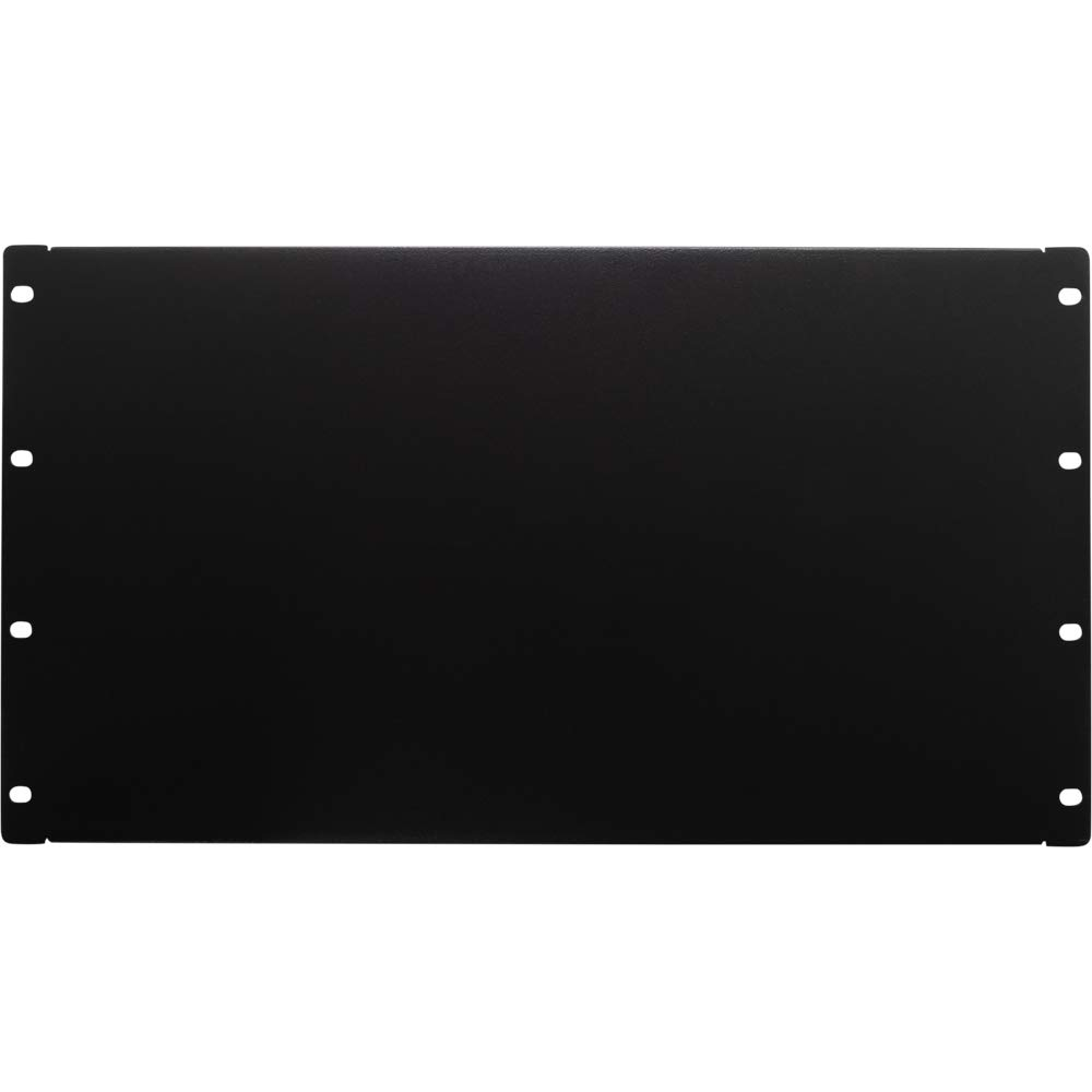 NavePoint 6U Blank Rack Mount Panel Spacer For 19-Inch Server Network Rack Enclosure Or Cabinet Black