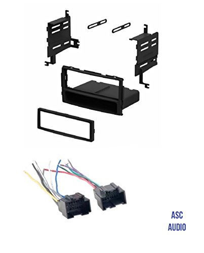ASC Audio Car Stereo Radio Install Dash Kit and Wire Harness for installing an Aftermarket Single Din Radio for 2007 - 2008 Hyundai Santa Fe without Factory Navigation
