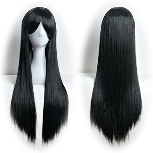 DEESEE(TM) 80cm Full Wig Long Straight Wig Cosplay Party Costume Hair Cosplay wig (Brazilian Costume For Kids)