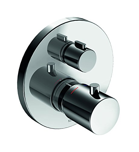 Keuco Edition 40051574Shut-Off and Diverter Valve Flush-Mounted Thermostatic Mixer Tap with Chrome Finish, 51574010181