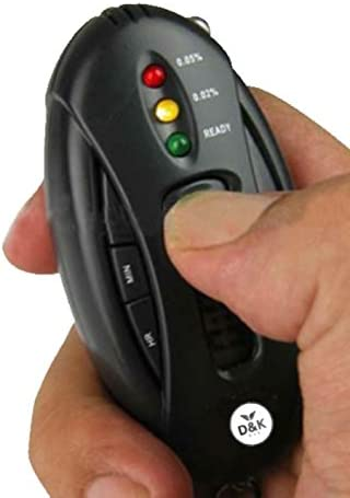 Portable Alcohol Tester Keychain Design LED Alcohol Breath Tester Breathalyzer Alcohol Analyzer Diagnostic Tool
