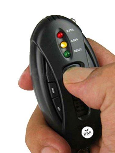 Best 2018 New Design Breathalyzer Alcohol Tester with Timer/Alcohol Breath Tester/Keychain Alcohol Tester Digital LCD Alcohol Tester Analyzer Breath Breathalyzer, LED Flashlight, Colored LED