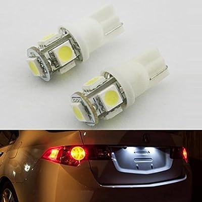 Partsam 2pcs T10 5050 168 194 led light bulb