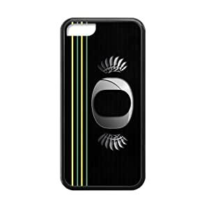 Generic Customize Unique Otterbox--NCAA Oregon Ducks Team Logo Plastic and TPU Black and White Case Cover for iPhone5C