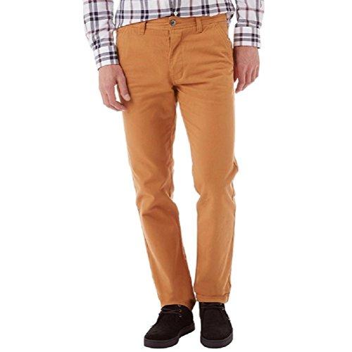 "Crew Clothing Uomo Vintage Chinos Pantaloni Marrone Trousers Tan Brown (Waist 36""/R Leg 32"")"
