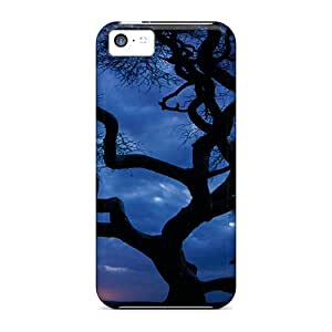 Sanp On Case Cover Protector For Iphone 5c (tree In Sunset)