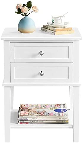 YAHEETECH 2 Tier Wood End Table Sofa Side Table Cabinet Review