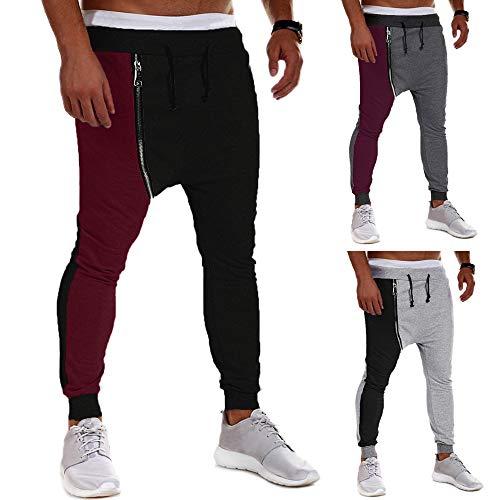 Zipper Innerternet Joggers Harem Coton Patchwork Sport Hip Noir Casual Hommes Hop Danse Pantalon Hiver Automne Pantalons TqwpqHnCX