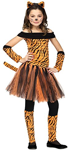 (Fun World Little Girl's Tigress Childrens Costume, Large, Multicolor)