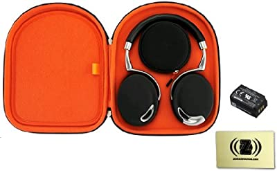 Parrot Zik Active Noise Cancelling Concert Hall Effect Bluetooth Headphones Bundle with Parrot Zik Headphone Case, Parrot Zik Battery and Custom Design Zorro Sounds Cleaning Cloth