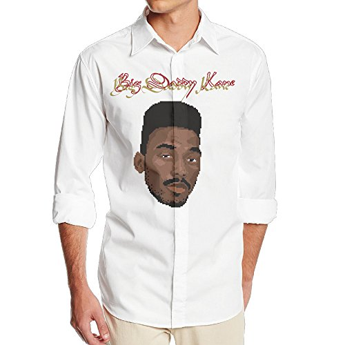 Big Daddy Kane Aint No Half Steppin Men's Casual Long Sleeve Sateen Dress Shirt (Big Daddy Kane The Wrath Of Kane)