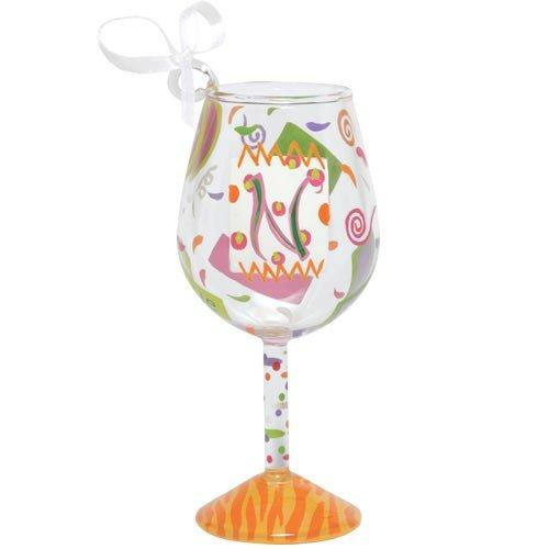 Santa Barbara Design Studio Lolita Holiday Mini-Wine Ornament, Letter N (Lolita Ornament Wine Glass)