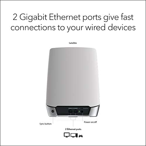 NETGEAR Orbi Whole Home Tri-Band WiFi 6 Mesh WiFi Satellite (RBS750) – Works with Your Orbi WiFi 6 Router, upload as much as 2,500 sq. toes, speeds as much as 4.2Gbps   11AX Mesh AX4200 WiFi