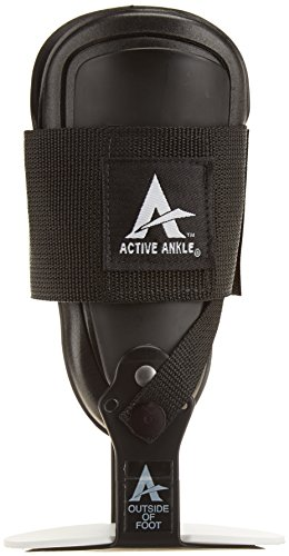Active Ankle T2 Rigid Ankle Brace For Injured Ankle Protection and Sprain Support, L, Black
