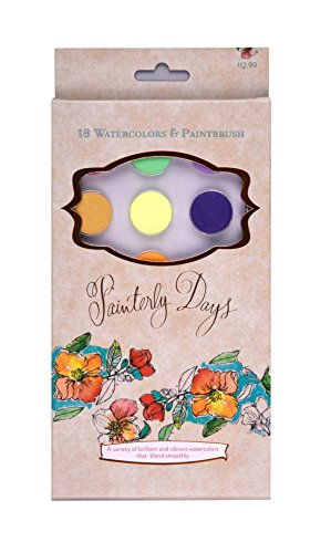 Painterly Days: 18 Watercolors & Paintbrush