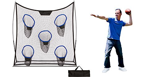 (Trademark Innovations 6.9' Portable Football Training Net with Five Targets and Carry Bag)