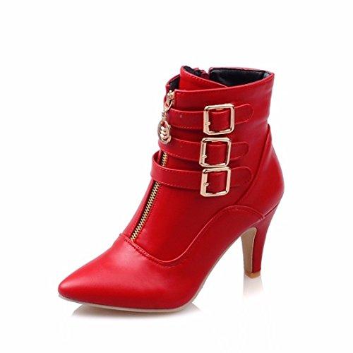 La Sra. invierno aclaró botas botas tamaño hebilla del cinturón gules