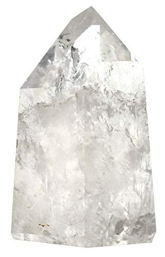 Quartz Crystal Point, 12ozs Specimen – Natural, 100% Authentic Brazilian Quartz – The Artisan Mined Series by hBAR