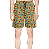 Elxie06 Graphic Sunflowers Near Me Mens Quick Dry Breathable Beach Shorts Drawstring