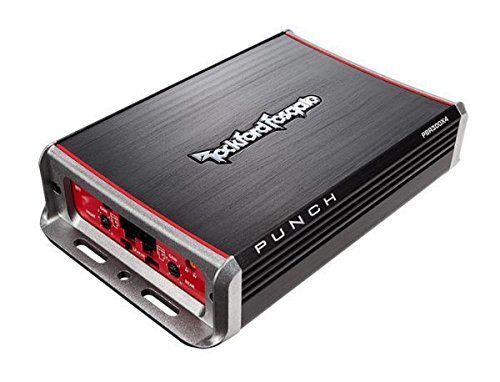 (Rockford Fosgate PBR300X4 Punch 300 Watt 4 Channel Boosted Rail Amplifier)