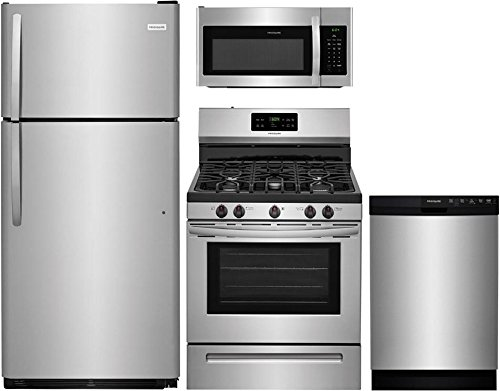 Frigidaire 4-Piece Stainless Steel Kitchen Package with FFTR1821TS 30