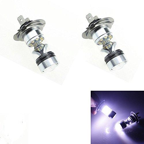 100W [H3] White LED Fog DRL Daytime Driving Light Lamp Bulbs - 4
