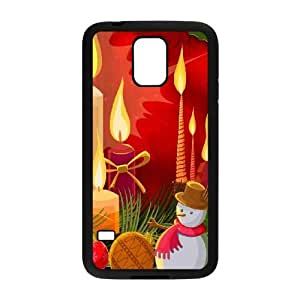 Christmas Candles Illustration Samsung Galaxy S5 Cell Phone Case Black Delicate gift AVS_664206
