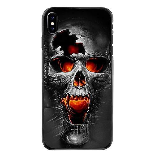 Black Phone Cover Case for Huawei P9 Lite 2017 Case,for Huawei P8 Lite 2017 The Punisher Horrible Halloween Skull Pastel Art ()