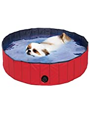 REAYOU Paddling Pool for Pets& Kids Foldable Pet Dogs Cats Paddling Pool Puppy Swimming Bathing Tub in Different Size for swimming, playing, bathing