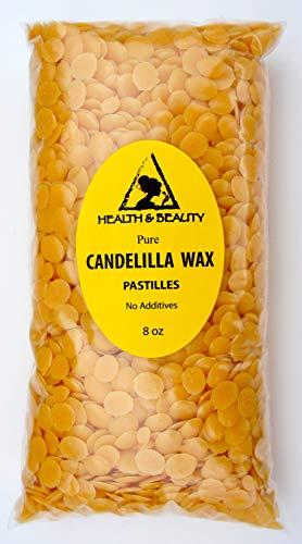 H&B Oils Center Co. Candelilla Wax Flakes Organic Vegan Pastilles Beards Premium Prime Grade A 100% Pure 8 oz ()